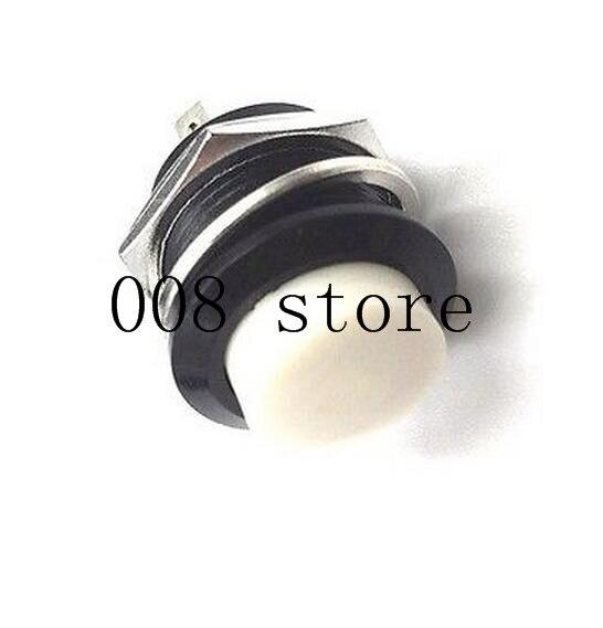6 шт. 16 мм самовозвратный Мгновенный кнопочный переключатель 6A/125VAC 3A/250VAC R13-507 - Цвет: white