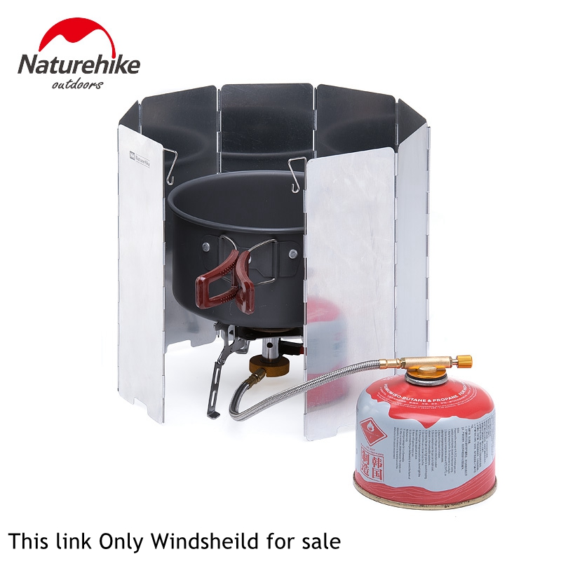 Camping Stove Windscreen outdoor Cooking Windshield Windproof Folding Screen For Use with Backpacking Stoves Butane/Alcohol