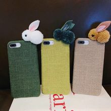 New Luxury 3D Cartoon rabbit Plush doll cloth phone case for iPhone XR Fur cute soft cover iPhoneX XS Max 6 6S 7 8 Plus