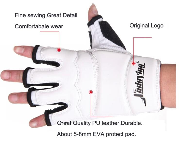 Taekwondo Gloves Fighting Hand Protector WTF Approved Martial Arts Sports Hand Guard PU Leather Fitness Boxing Gloves 1