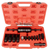 YY 14 Pcs Injection Puller Extractor Kit Tool For Bosch Delphi Deso Siemens Diesel Injector Remover Common Rail Adaptor