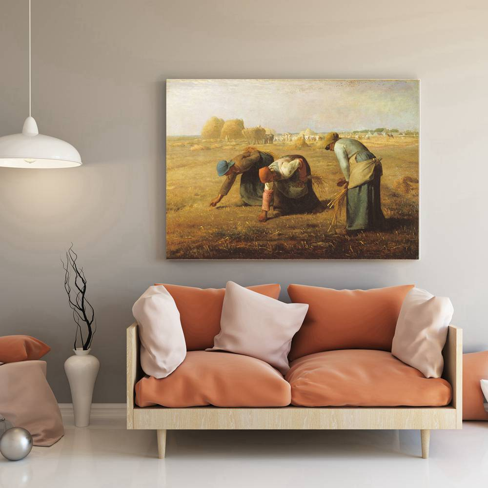 Hot The Gleaners Oil Painting Print Canvas Jean-Francois Millet Famous Artist Artwork for Office Home Decor Fashion Gift
