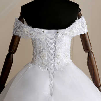 Mrs Win 2019 High Quality Cap Sleeve Wedding Dresses Lace Up Bride Dres Vestidos De Novia Plus Size Customized Dress