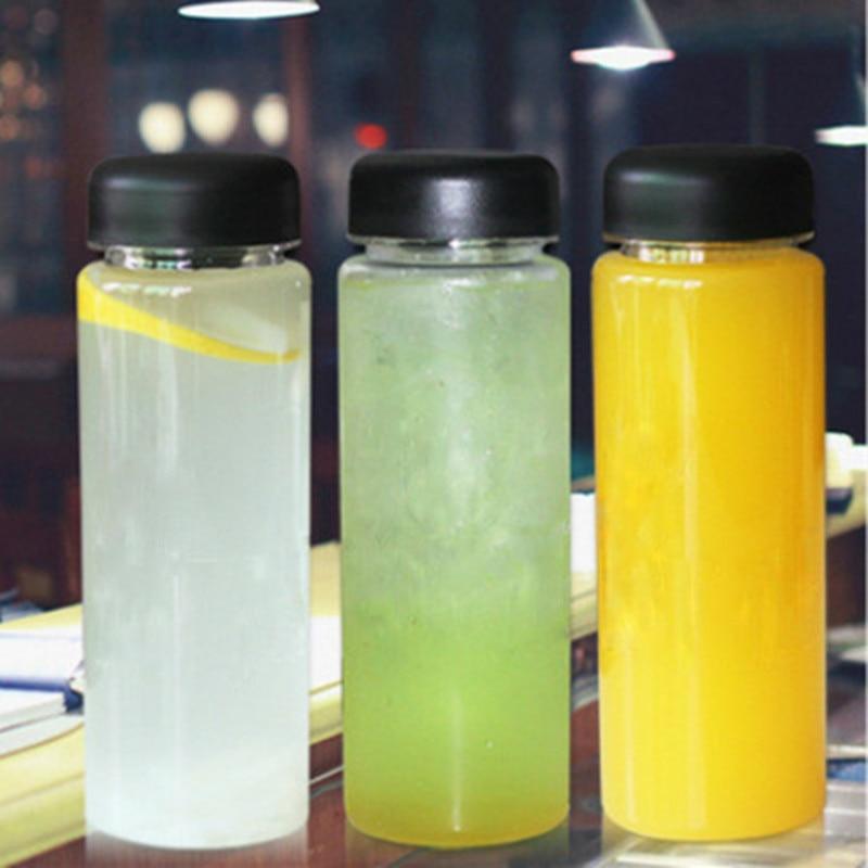 1 Piece 500Ml Plastic Sport Clear Fruit Bottle Lemon Juice Readily Drinking Water Have English Letters|Water Bottles|   - AliExpress