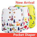 ElfDiaper New Prints! pocket stay dry diaper nappy swimming pant washable reusable newborn cloth boy girl baby diaper