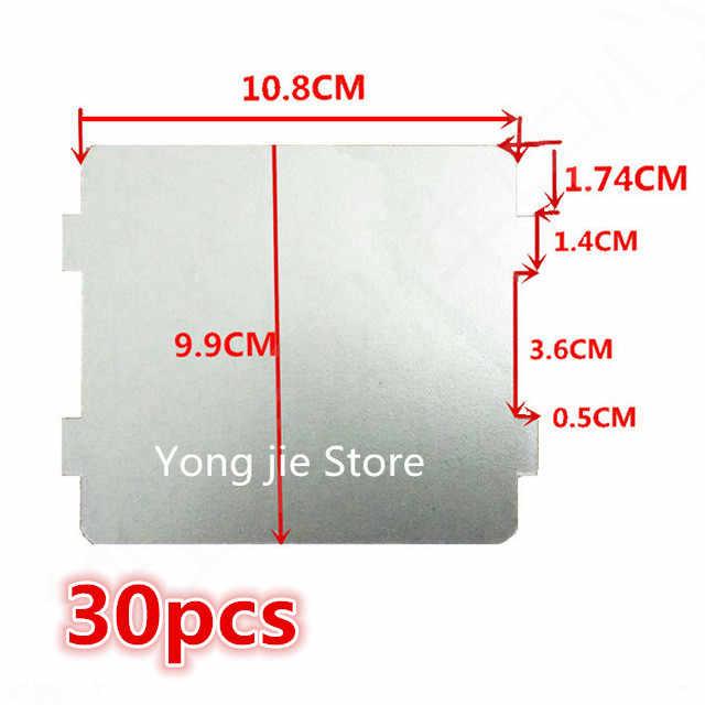 30 Uds piezas de repuesto para hornos microondas mica microondas láminas de mica 9,9*10,8 cm para Midea magnetron cap midea microondas