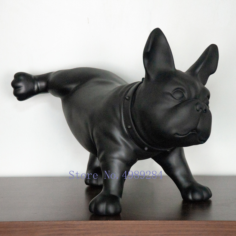 French Bulldog Decoration Simulated dog sculpture Home living room decoration furnishings accessories living room creative gift