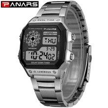 PANARS New Arrival Luminous Sport Watch Multifunction Men's Waterproof Wrist Watch Fitness Digital Watch Alarm Timer Clock 8113
