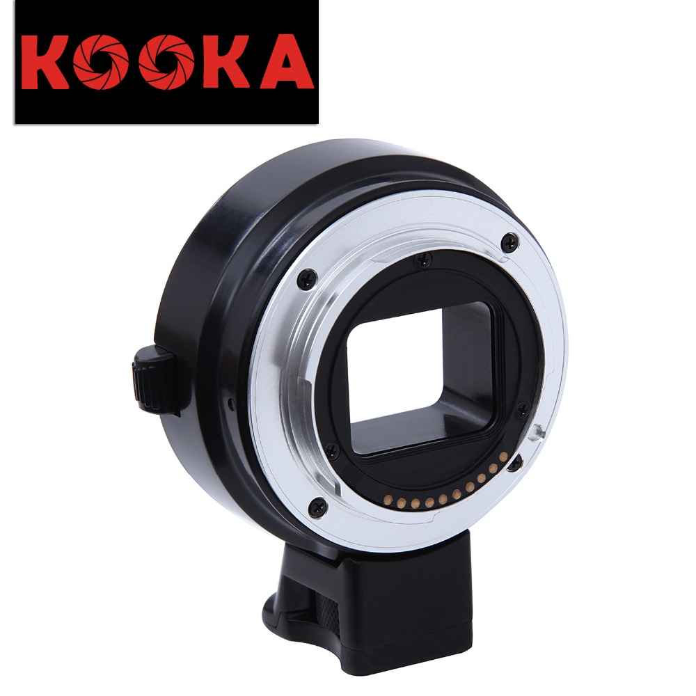 KOOKA KK-ENC99 PRO AF Copper Lens Adapter Support Full Frame for Sony Nex A7 A7R A7RII NEX-5 Camera pixco electronic auto focus full frame af confirm adapter suit for canon ef lens to sony nex a7 a7r nex 5t camera