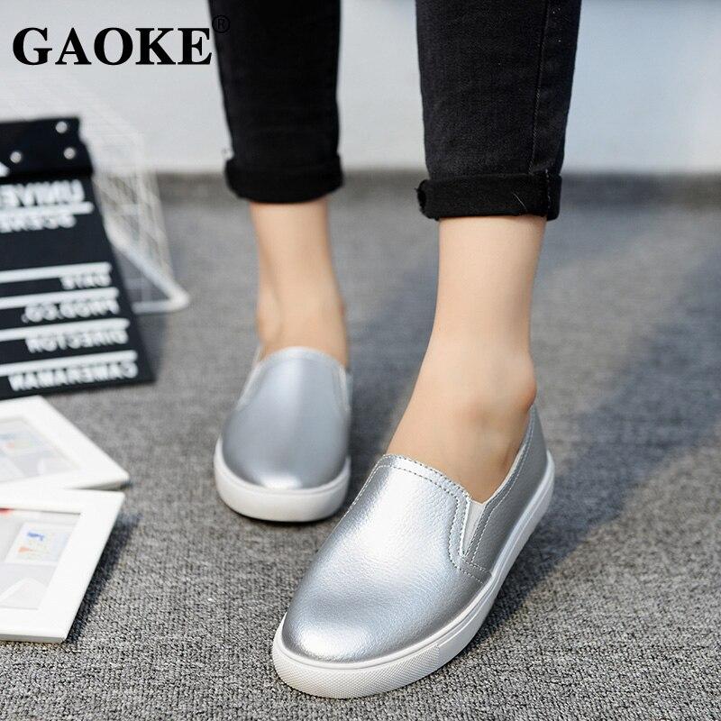 100% Wahr 2018 Frühling Sommer Neue Leder Frauen Schuh Casual Leder Schuhe Für Frauen Flache Schuhe Weiß Damen Schnürung Müßiggänger Zapatos Mujer Produkte HeißEr Verkauf