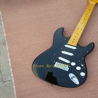 In stock New arrival F custom St electric guitar,Black ST guitar,Free shipping