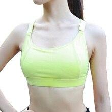 Women's Running Underwear Comfortable Wide Strap Shockproof Bh Padded Tank Top Gym Fitness Workout Sports Bra