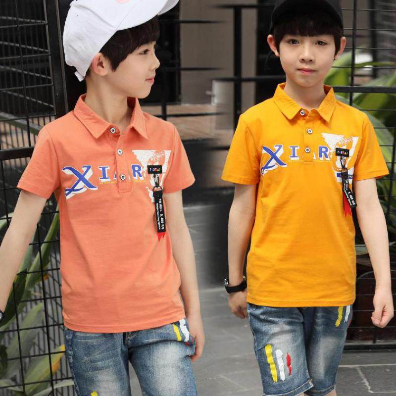 Teenagers Boys Summer Clothing Sets New 2018 Kids Children Short Sleeve T Shirts + Denim Pant Sets School Sport Suit For Boys 12
