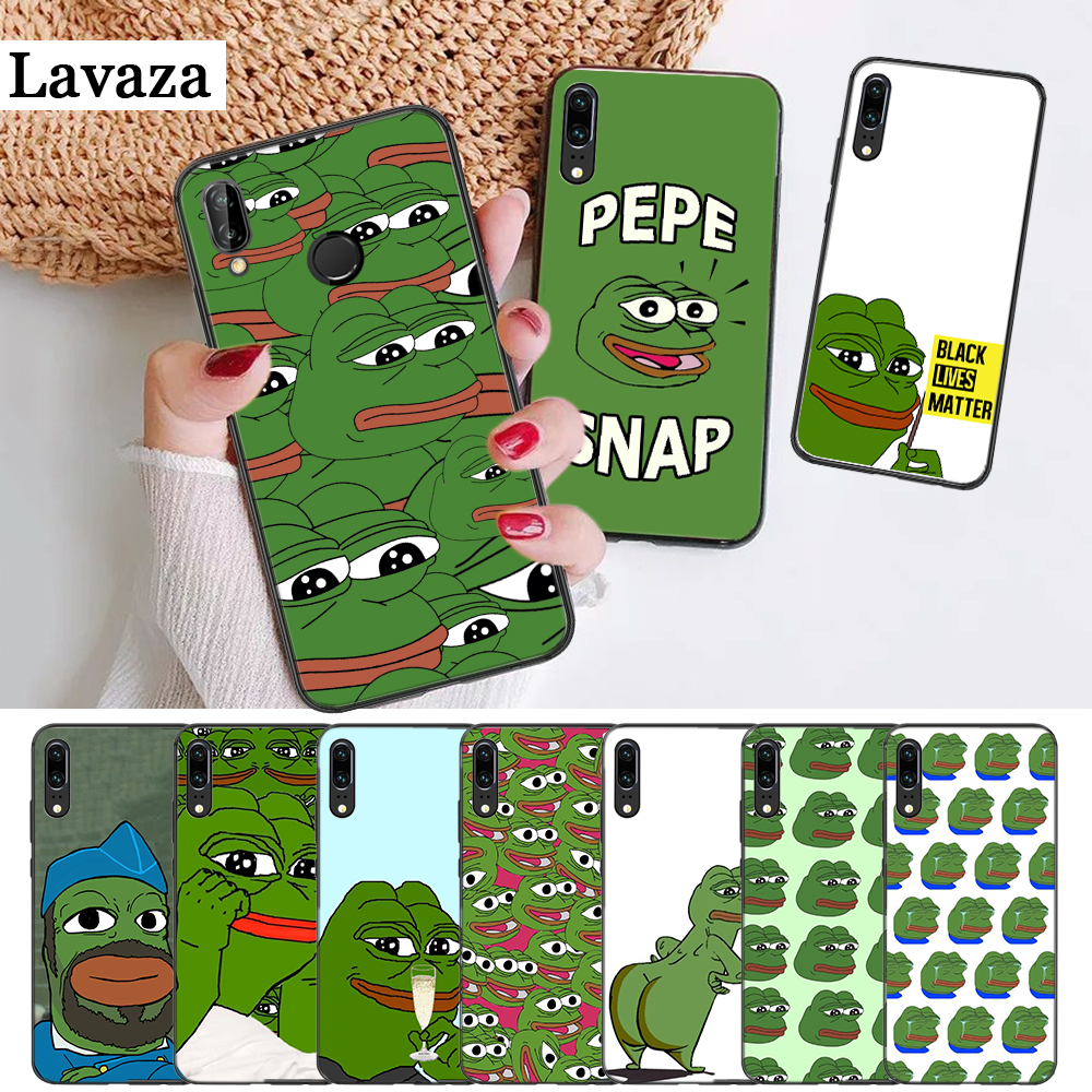 the Frog meme pepe Colorful Silicone Case for Huawei P8 Lite 2015 2017 P9 2016 Mimi P10 P20 Pro P Smart Z 2019 P30 image