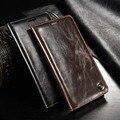 Luxo Magnetic Auto Flip Original Genuine Leather Case Capa Do Telefone para samsung galaxy a3 a5 a7 2015 fique wallet caso JS0445