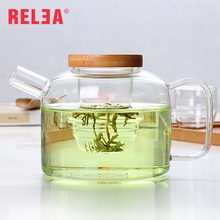 750ml Glass Teapots with Lid Transparent High Capacity Teapot Drinkware R0021