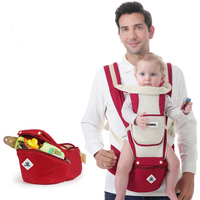 1 pcs Breathable Solid Baby Carriers With Storage Bag Multifunction Newborn Infant Hipseat Backpakcs Cotton Handwash Baby Sling