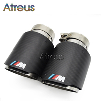 For BMW M3 M4 M5 F30 F20 F10 M Power Carbon Fiber Akrapovic Car Exhaust Muffler Tip For BMW 1 2 3 4 5 6 7 X Z Series Accessories