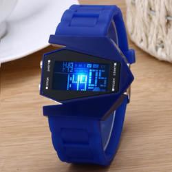 Роскошные Цифровой Будильник Секундомер подсветкой светодио дный часы для женщин для мужчин детские спортивные наручные часы relogio feminino