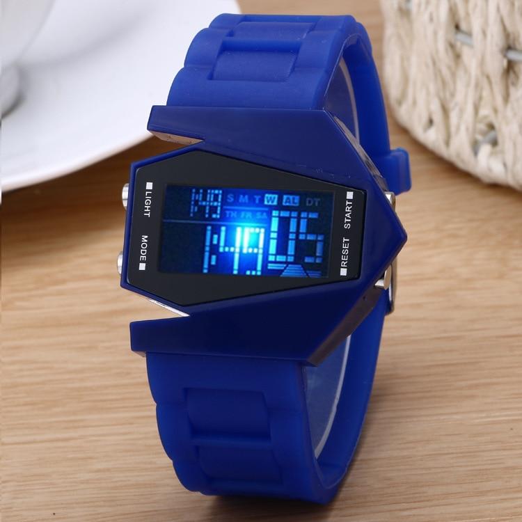 Luxury Digital Alarm Stopwatch Back Light LED Watch Women Men Children Sports Wrist Watch Clock Relogio Feminino Masculino 8A76