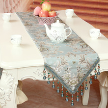 European flag upscale dining tables Coffee slip mat embroidered tablecloths minimalist end of the bed teasideend