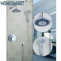 Ouboni Shower Set Torneira Good Quality 8 Inch Shower Head Bathroom Rainfall 50242 42ABath Tub Chrome