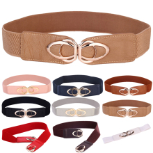 Fashion PU Leather Elastic Wide Belts for Women Stretch Thick Waist Dress Plus Size By Beltoxfine