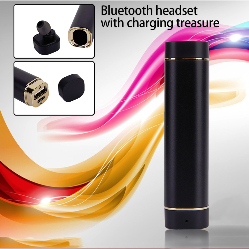 Newest K1 Wireless Mini Bluetooth Earphone Handsfree With 900mA Power Bank In Ear Headset Music Stereo Single Ear Headset newest k1 wireless mini bluetooth earphone handsfree with 900ma power bank in ear headset music stereo single ear headset