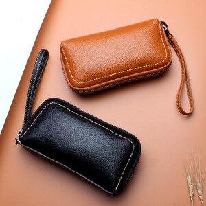 Image 2 - 6 couleurs mode femme sac à main 100% en cuir véritable excellente qualité pochette pour femmes sac Style européen et américain bracelets sacs
