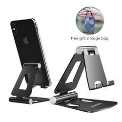 Lingchen suporte do telefone suporte para xiao mi 9 metal titular do telefone móvel dobrável suporte de mesa para iphone 7 8 x xs max