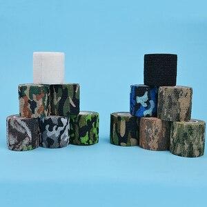 Image 3 - 4.5 センチメートル * 5 メートル狩猟テープ迷彩ステルスキャンプハント撮影ツールシリーズの防水不織布テープ混合粘着迷彩タップ