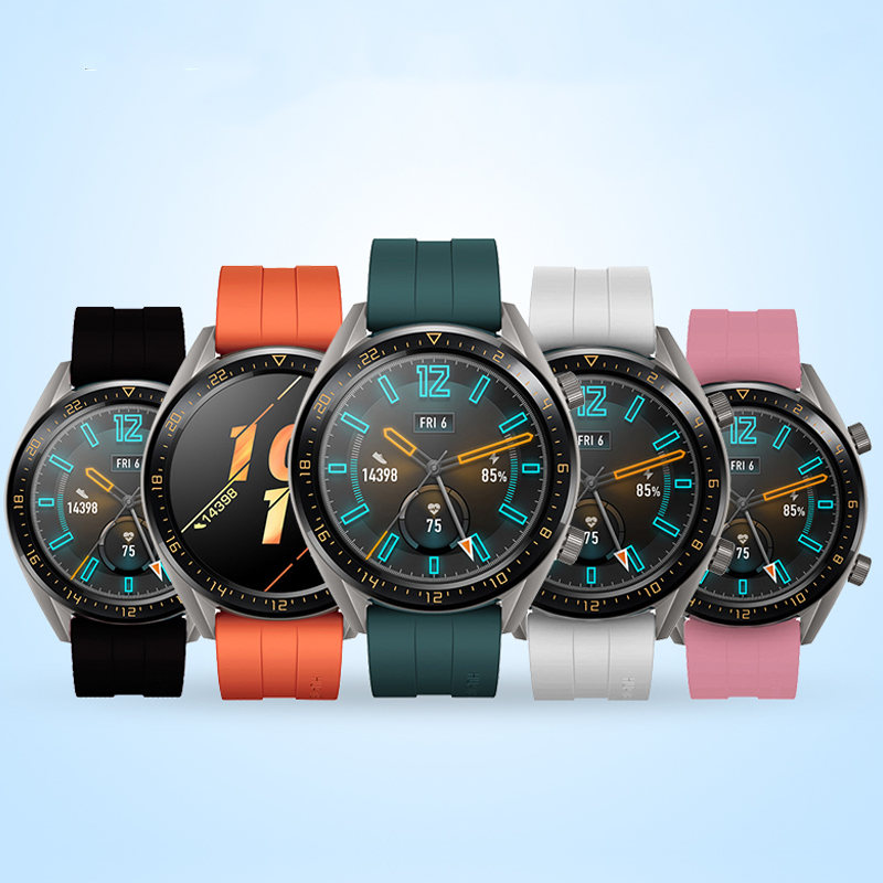 For Huawei Watch GT 2 Strap Classic Samsung Galaxy Watch 46mm Amazfit Bip Silicone 22mm Watch Band Gear S3 Frontier Bracelet
