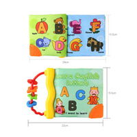 New Arrivals Baby Rattles Teether Toys Animal And Letter Cloth Book For Toddlers Learning Early Education