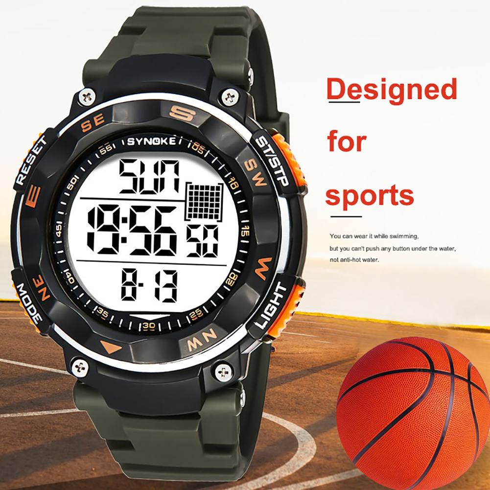 Waterproof 50m Sport Digital Men Watch Dual Time Zone Date Alarm Stopwatch Electronics Casual Wrist Watch Hot Clock