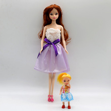 6PCS Barbie Doll Dress Wedding Dress Princess Gown Fashion Plastic Necklace Clothes For Barbie Dolls Girl's Gift