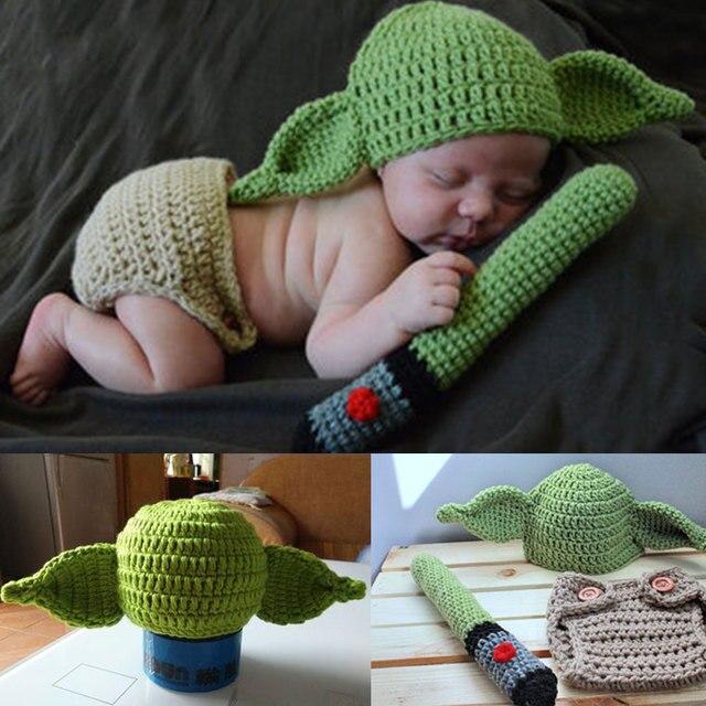 Tejido de lana recién nacido niños Fotografía props sombrero suéter ...
