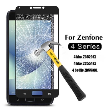 For Zenfone 4 Max Glass Screen protector for Zenfone 4 Max ZC520KL Tempered glass case on 4max zc520 kl zc 520kl protective film image