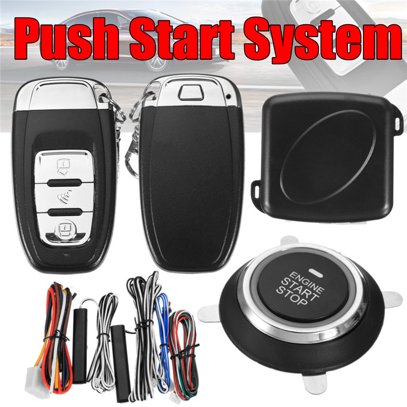 2018 New Arrival 9Pcs Car SUV Keyless Entry Engine Start Alarm System Push Button Remote Starter Stop Auto