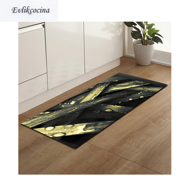 Free Shipping Wet Nightfall Leaves Alfombra Absorbent Bath Mat Area Rug For Living Room Bedroom Floor Carpet Tapete Infantil