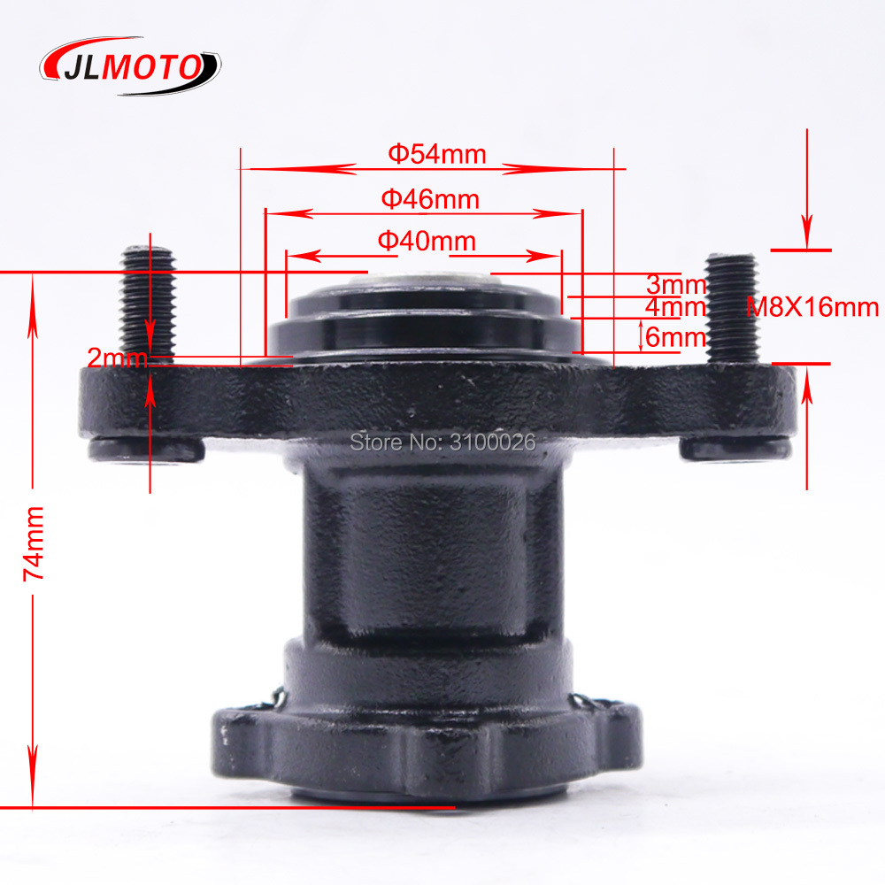 Atv Parts & Accessories Sporting Front 90mm 3*m8 15mm Stud Wheel Hub Fit For 50cc 110cc 125cc Atv 6 7 8 Inch Rim Tire Go Kart Buggy Karting Atv Quad Bike Parts Atv,rv,boat & Other Vehicle