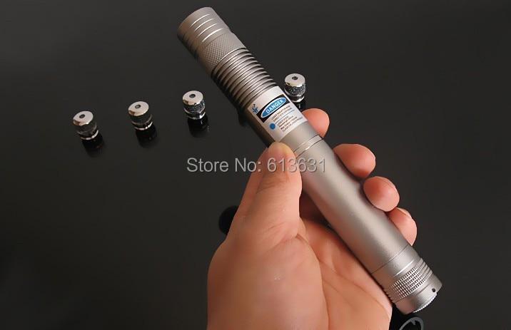 Plus Puissant Bleu Brûlant Torche Laser 445nm 10000 m Focalisable viseur Laser Pointeurs Poche brûler match bougie cigarette allumée