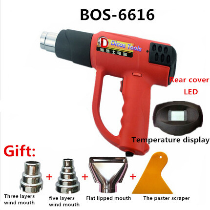 free shipping 240V 1600W heat gun plastic welding torch electric hot air gun industrial drying gun hot air blower BOS-6616 ems dhl fast shipping 230v 3000w heat element for for heat gun handheld hot air plastic welder gun plastic welder accessories