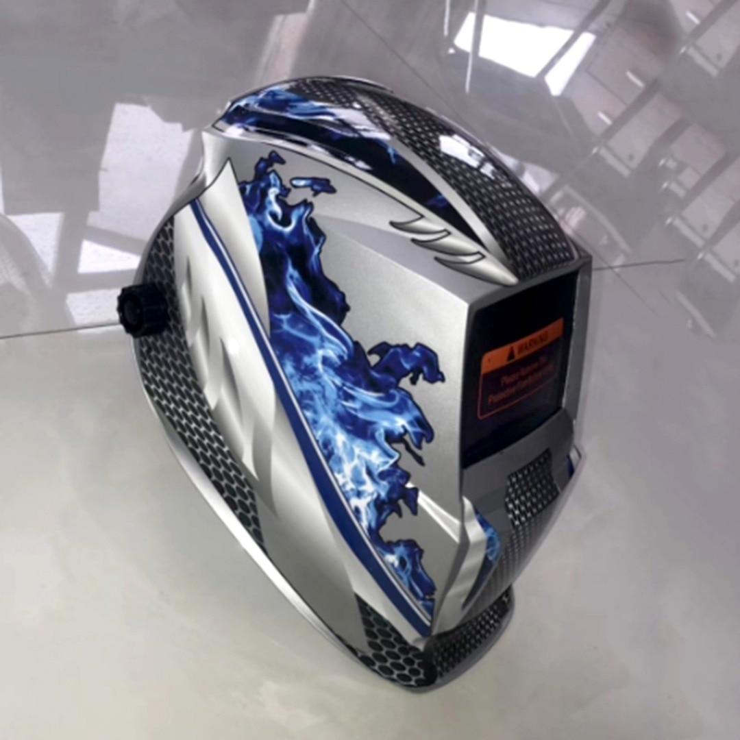 New Welding Helmet Mask Solar Auto Darkening Adjustable Welder Goggles Cap Shade Range DIN 9-13 Protective Equipment цена