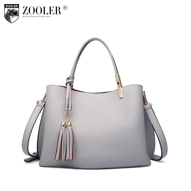 где купить 2018 new ZOOLER genuine leather bag Luxury woman bag large capacity elegant solid handbag top quality soft tote-c125 по лучшей цене