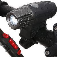 自転車ライトリア自転車ヘッドライト-ナイトライダーusb充電式ledフロント点滅バイク懐中電灯