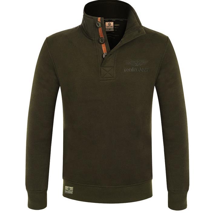Winter New Plus velvet Thick chest collar font b Sweater b font Coat font b men
