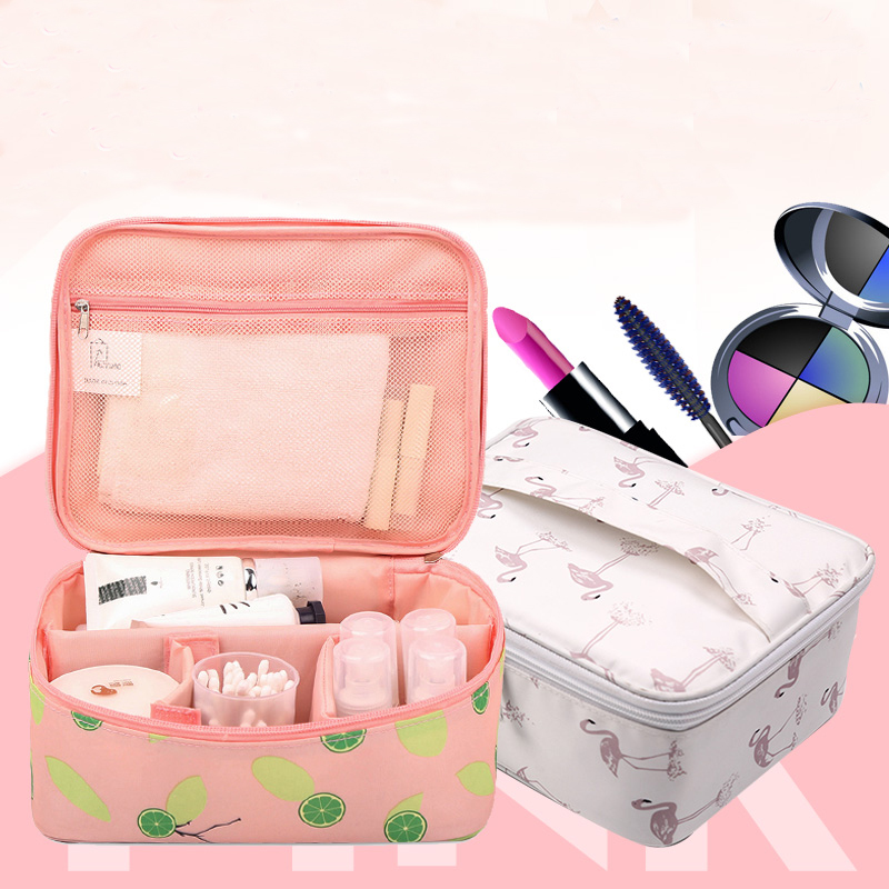 New Zipper Women Makeup bag Big Capacity travel Cosmetic bagS beauty Case Make Up Organizer Toiletry bag kits Travel Wash pouch 3pcs cosmetic case toiletry bag travel organizador wash makeup bags case holder pouch kits set owl zebra neceser para mujer