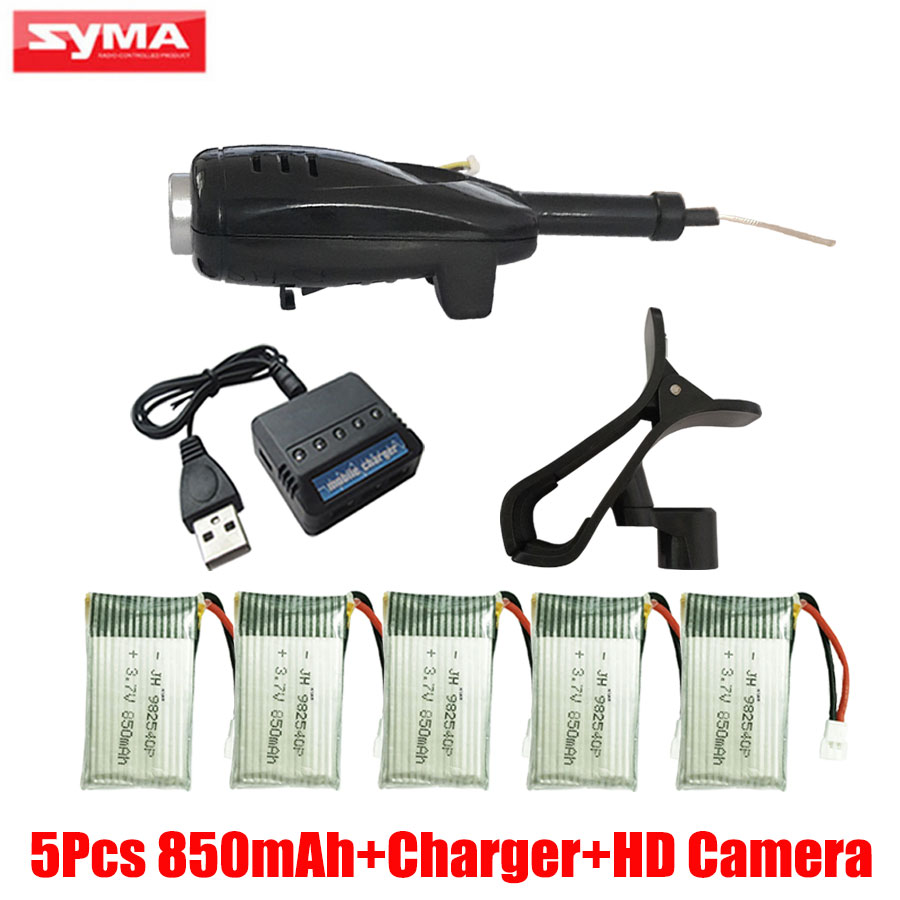 SYAM X5C RC Drone 850mAh Li Battery + 2MP Camera and FPV WIFI Camera Phone Holder For Helicopter X5SC X5SW X5HC X5HW Spare Parts high quality 5 x new wltoys v911 rc helicopter parts 200mah 3 7v li poly battery toys wholesale