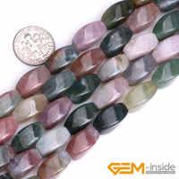 """8x16mm torsion indien Agates perles en pierre naturelle Fahsion bricolage perles pour la fabrication de bijoux brin 15 """"livraison gratuite 25 pièces"""