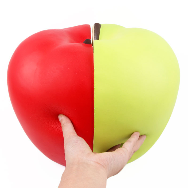23/25cm Jumbo Soft Squishy Half Apple Fruit  Slow Rising Kids Gift Giant New Super Big Rebound Strawberry Orange Squizies Toy